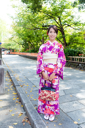 tradition: Japanese woman with tradition dressing