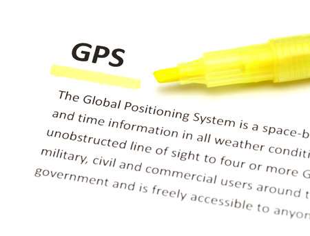 phonetic: The meaning of GPS Stock Photo