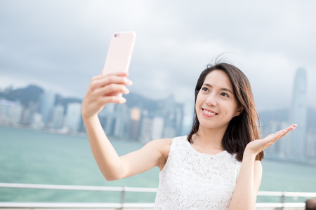 self image: Woman take self image with cellphone