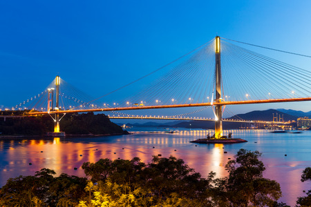 schlagbaum: Suspension bridge in Hong Kong