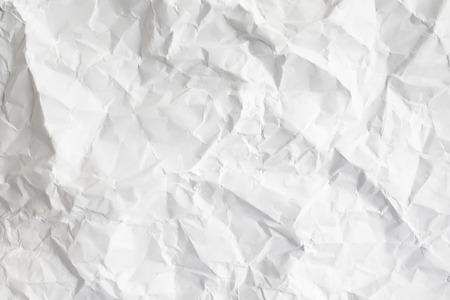 scrunch: Crumpled white paper Stock Photo