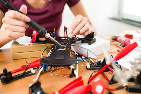 Welding on drone