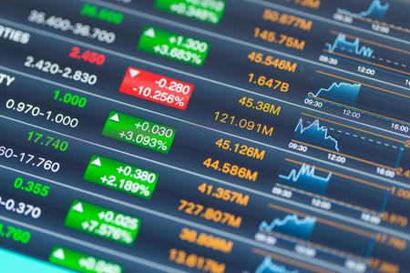 Stock market graph analysis 写真素材