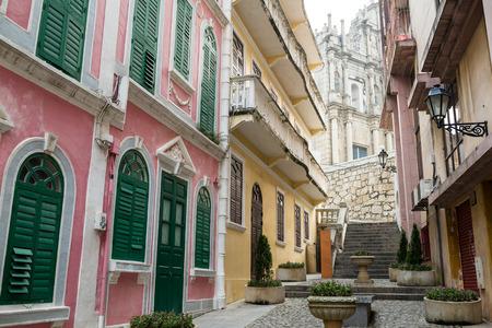 st pauls: Ruins of St. Pauls in Macau city Stock Photo
