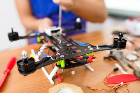 Drone installation Stock Photo
