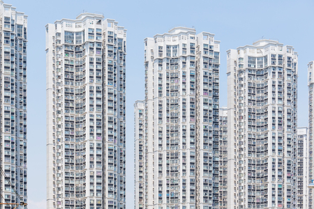 overpopulated: High rise apartment building Stock Photo