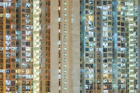 overpopulated: Resident apartment building