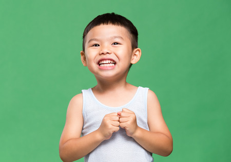 exhilarated: Thrilled little boy