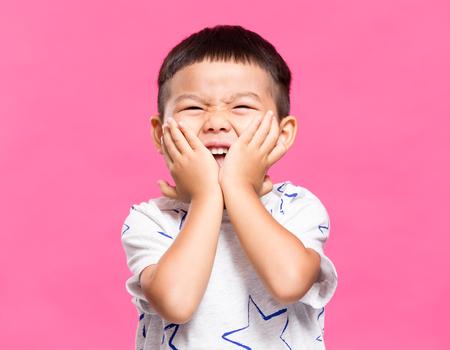 thrilled: Thrilled little boy