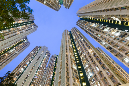 overpopulated: Residential building to the sky
