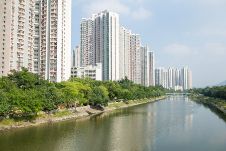 public housing: Resident apartment building in Hong Kong