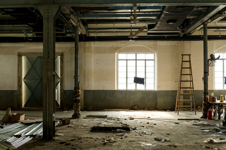 abandoned room: Old abandoned room with window Stock Photo