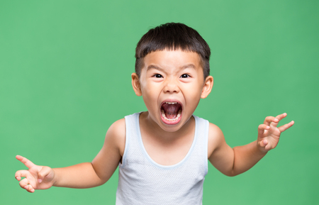 Excited young boy 写真素材