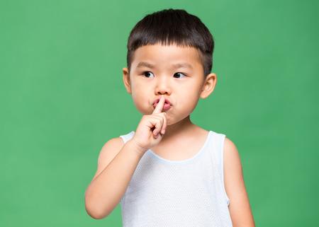 keep an eye on: Little boy telling you to make silence