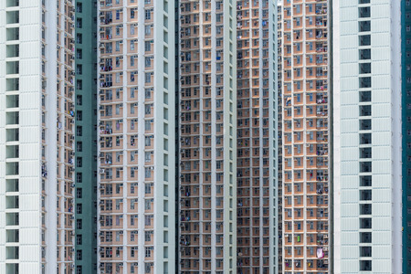 multistory: Skyscraper facade of multistory
