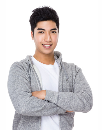 casual men: Asian man