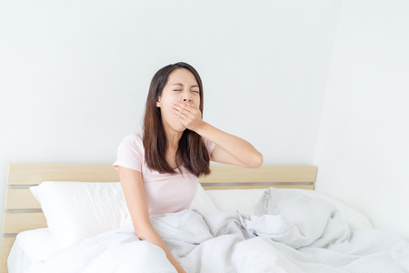 Woman feeling tired Stock Photo