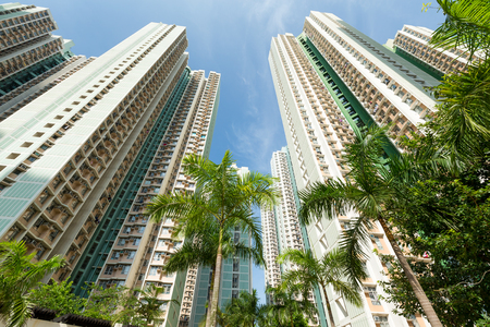 public housing: Low angle view of Skyscraper Stock Photo