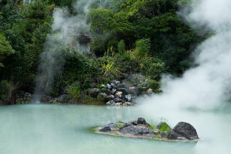 Aguas termales en Beppu Foto de archivo