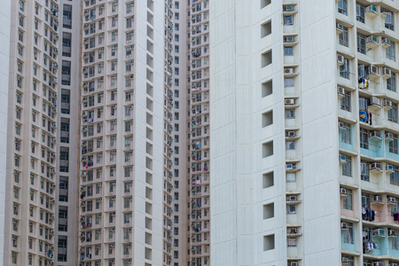 overpopulated: Facade of building