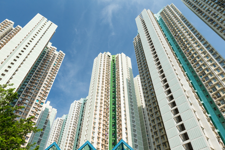overpopulated: Residential Building to the sky Stock Photo