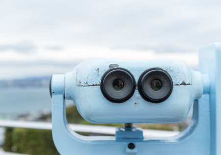 far away look: Binocular for sightseeing from the view point