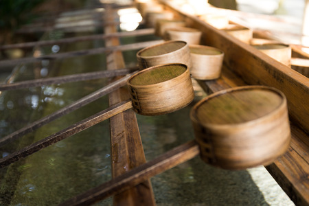 japanese temple: Japanese ladle in Japanese Temple