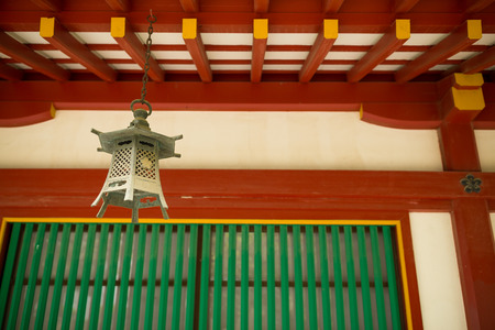 japanese temple: lantern hang up in Japanese temple