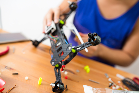 Building of drone  Stock Photo