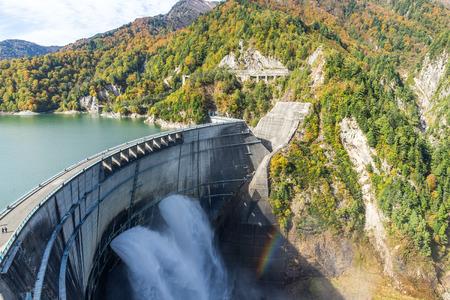 Kurobe dam in Toyama of Japan