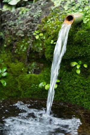 bamboo fountain: Traditional Bamboo Fountain