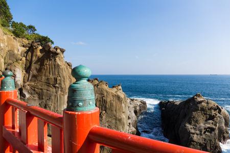 quasi: Aoshima Shrine and coastline Stock Photo