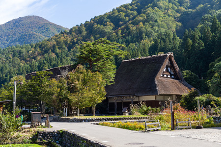 Historical Japanese village Ogimachi Editorial