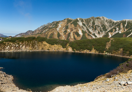 Mikurigaike pond in Tateyama mountain