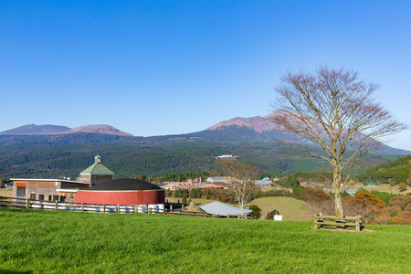 countryside landscape: Countryside with beautiful landscape Stock Photo