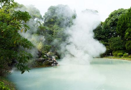 Hot springs in Beppu of Japan