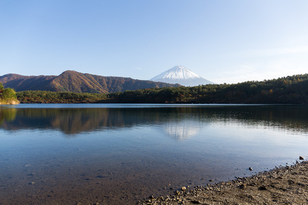 saiko: Lake saiko and Mount Fuji