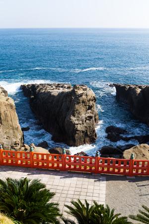 quasi: Aoshima Shrine and coastline with blue sky