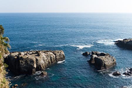 quasi: Nichinan Kaigan Quasi National Park Coastline Stock Photo