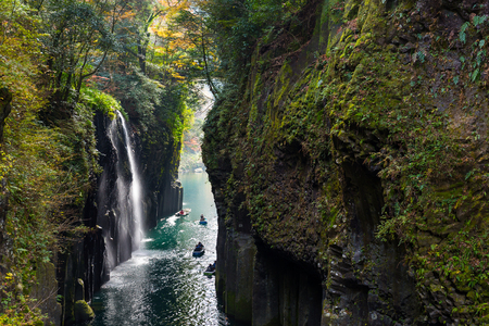 Takachiho Gorge in autumn