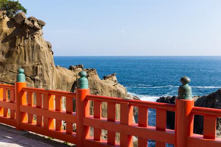 Aoshima temple and seascape