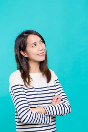 thinking woman: Woman thinking Stock Photo