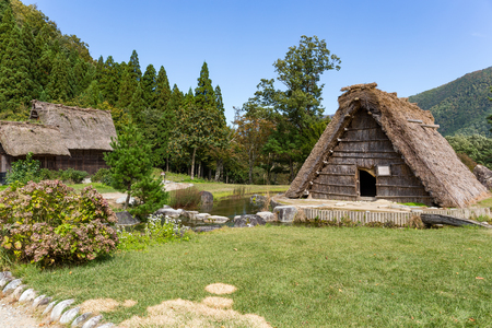 Traditional and Historical Japanese village Shirakawago Stock Photo