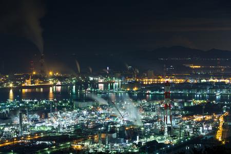 Mizushima coastal industrial area in Japan Stock Photo