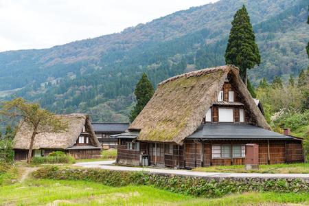 Shirakawago old village in japan Stock Photo