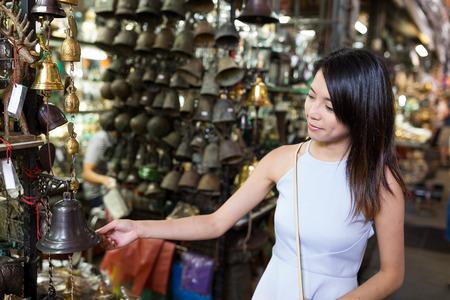 buying: Woman buying at street market