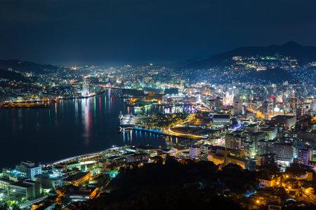 nagasaki: Nagasaki skyline at night