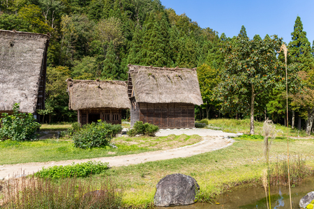 Traditional Japanese old village in forest