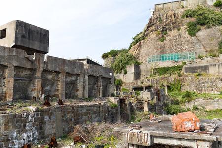 Abandoned Gunkanjima Stock Photo