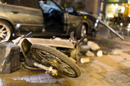 車衝突事故 写真素材